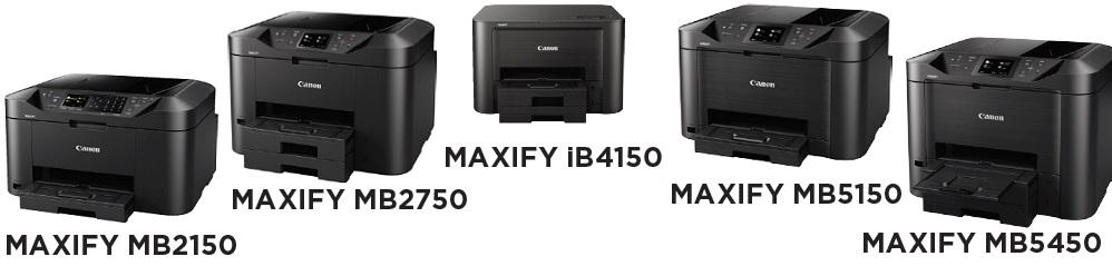 Canon Maxify MB2150-serie, MB2750-serie, MB5150-serie, MB5450-serie en iB4150