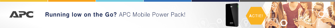 30% Korting op Mobile Power Packs van APC!