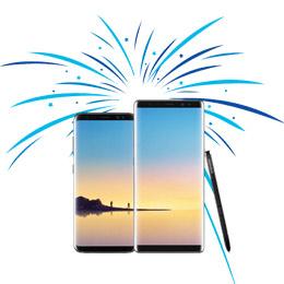 €50,- retour bij een Samsung Galaxy S8/S8+ en Note8