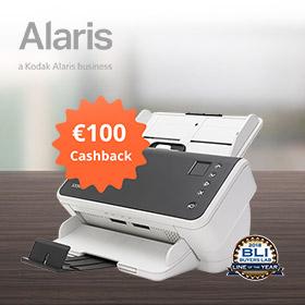 Ontvang 100 euro cashback op een Kodak Alaris S2000 scanner