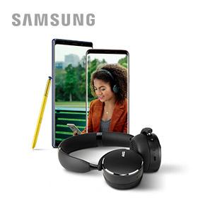 Gratis AKG draadloze hoofdtelefoon bij aankoop van een Samsung Ga