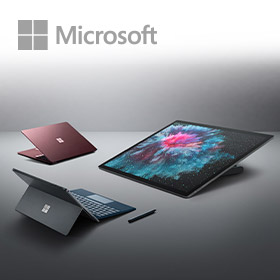 Nieuwe zakelijke Microsoft Surface devices